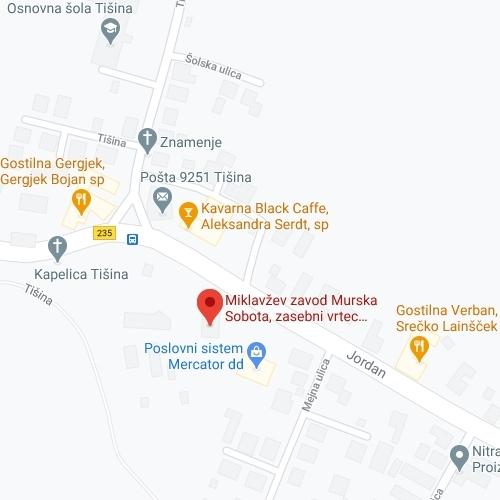 Zemljevid Vrtca Lavra OE Murska Sobota